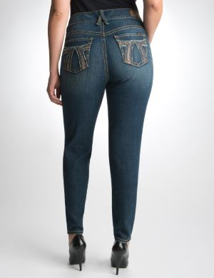 Raw edge embellished jegging by Seven7