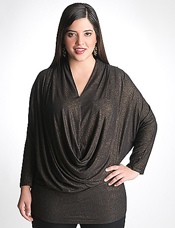 Full Figure Shimmer Dolman Top by Seven7