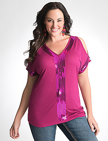 Plus Size Sequin Top by Seven7