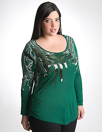 Sequin long sleeve tee by Seven7