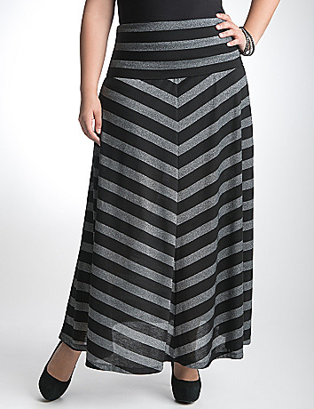 Metallic chevron stripe skirt by Seven7