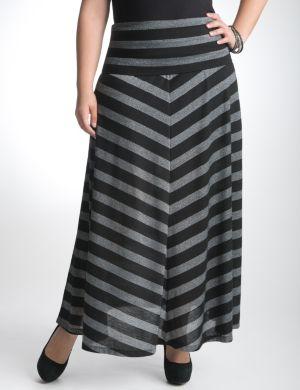 Metallic chevron stripe skirt by Seven7