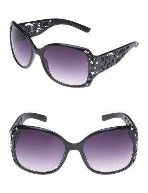 Rhinestone scroll sunglasses