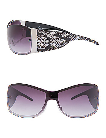 Snake print shield sunglasses by Lane Bryant