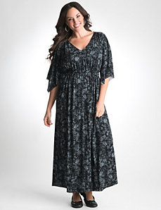 Plus Size Kimono Sleeve Maxi Dress by Lane Bryant