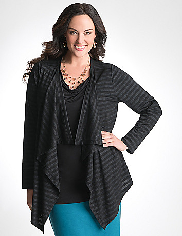 Plus Size Striped Knit Overpiece by Lane Bryant