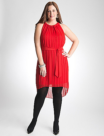 Plus Size Chiffon Pleated Dress by Lane Bryant