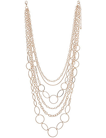 Nested goldtone chain necklace by Lane Bryant