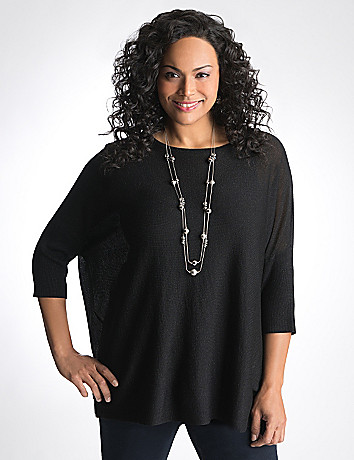 Full Figure Boxy shimmer top