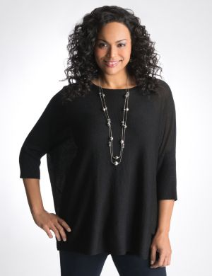 Boxy shimmer top