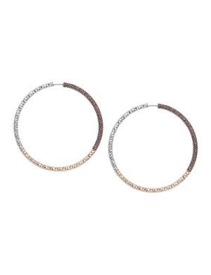 Tri-tone hoop earrings by Lane Bryant