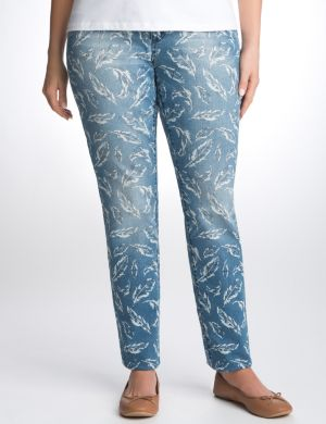 Feather print skinny jean by Seven7