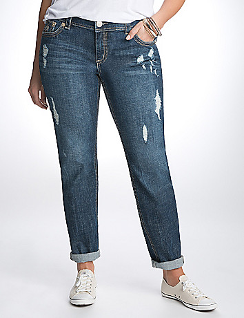 Plus Size Distressed Skinny Jean by Seven7