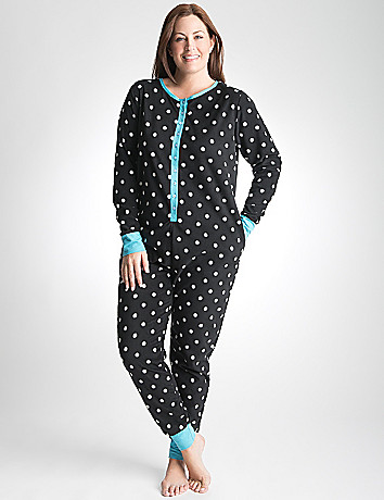Plus Size Fleece Onesie Pajamas by Cacique