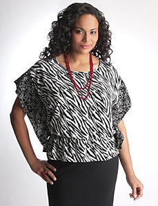 Full Figure Handkerchief Top by Lane Bryant