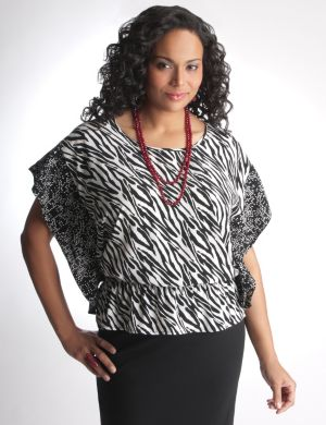 Animal print handkerchief top