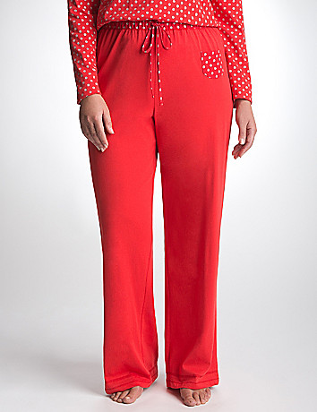 Sparkle Dot Knit Sleep Pant by Cacique