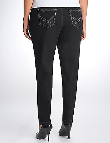 Full Figure Sequin Skinny Jean by Lane Bryant