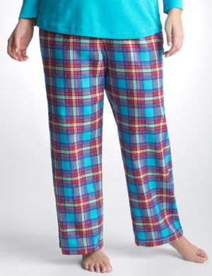 Shimmer plaid sleep pant