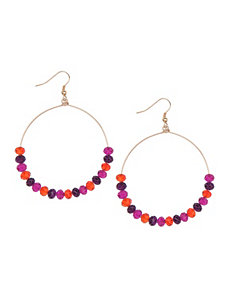 Multicolor bead hoop earrings by Lane Bryant by Lane Bryant