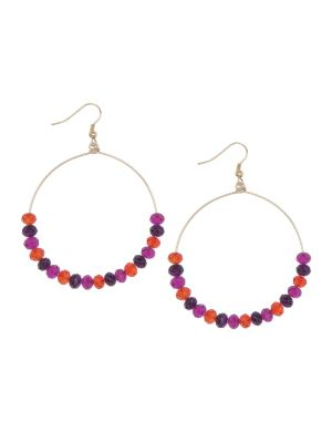 Multicolor bead hoop earrings by Lane Bryant
