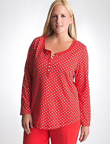 Plus Size Shimmer Dot Sleep Top by Cacique