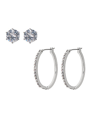 Stud and oval earring duo by Lane Bryant
