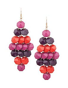 Hex bead chandelier earrings by Lane Bryant by Lane Bryant