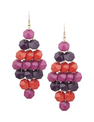 Hex bead chandelier earrings by Lane Bryant