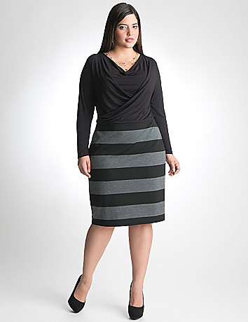 Plus Size Striped Skirt Dress by Lane Bryant