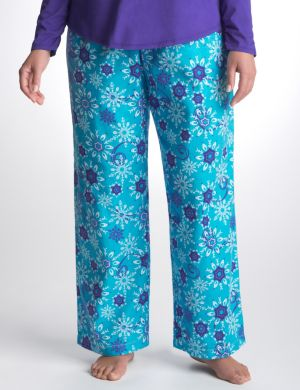 Snowflake brushed twill sleep pant