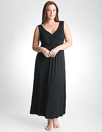 Plus Size Sleep Maxi Lounge Dress by Cacique