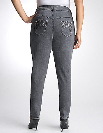 Plus Size Embellished Skinny Jean by Lane Bryant
