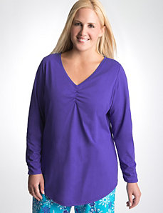 Plus Size Long Sleeve Sleep Tee by Cacique
