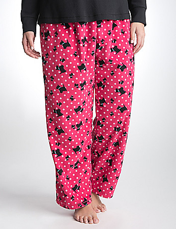 Scottie dog fleece sleep pant by Cacique