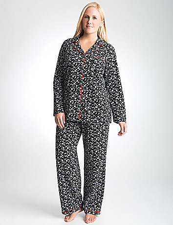 Full Figure Snow Print PJ Set by Cacique