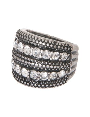 5 row rhinestone ring by Lane Bryant