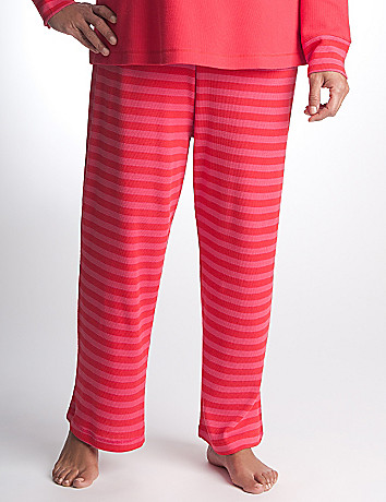 Plus Size Striped Thermal Sleep Pant by Cacique