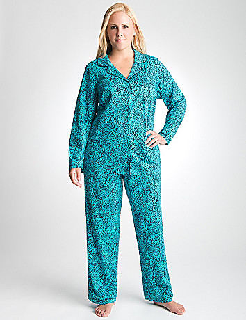 Full Figure Animal 2 Piece Pajama Set by Cacique