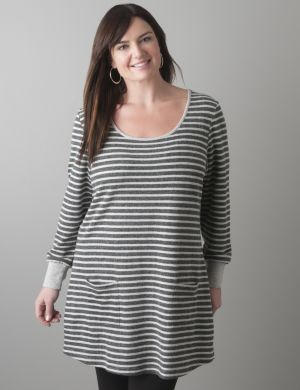 Knit striped tunic