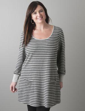 Knit striped tunic