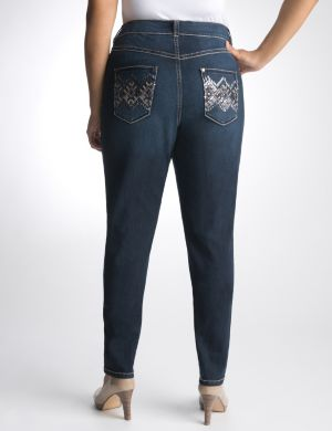 Argyle pocket skinny jean