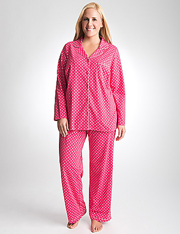 Plus Size Shimmer Dot 2 Piece PJ Set by Cacique