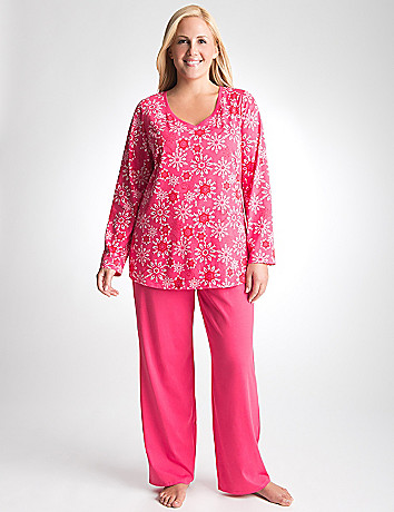 Full Figure Snow Print Pajama Set by Cacique