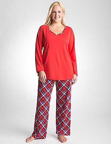 Plus Size Plaid Pajama Set by Cacique