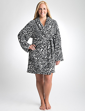 Plus Size Animal Print Robe by Cacique
