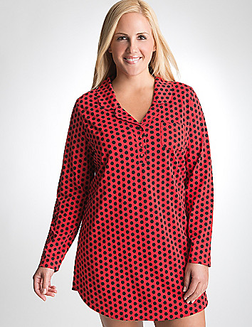 Plus Size Polka Dot Sleep Shirt by Cacique