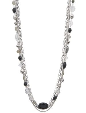 Beaded layered chain necklace by Lane Bryant