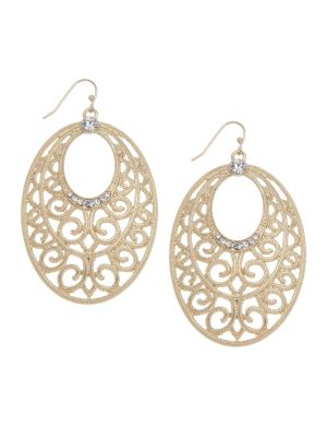 Goldtone filigree earrings by Lane Bryant