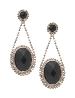 Chain & stone earrings by Lane Bryant
